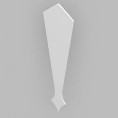 Fascia Board - Roofline Finial - 350mm - White