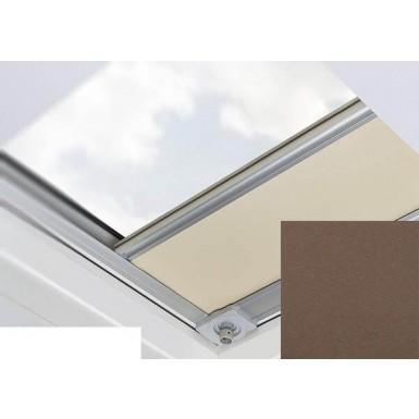 Fakro - ARF/D II 256 - Flat Roof Manual Blackout Blind - Walnut
