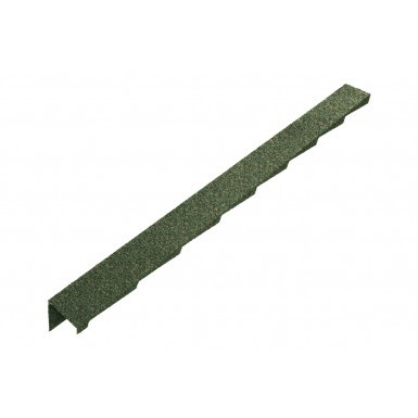 Britmet - Plaintile - Left Hand Barge - Moss Green (1250mm)