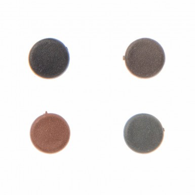 Envirotile - Screw Cover Caps Small - Dark Brown (Pack 25)