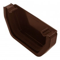 Plastic Guttering Squareline - Stop End Internal - 114mm x 95mm - Clay Brown