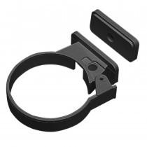 Plastic Guttering Half Round - Single Fix Down Pipe Clip - 65mm - Black