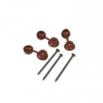 Coroline - Corrugated Bitumen Roof Sheet Fixings - Brown (Pack of 400)