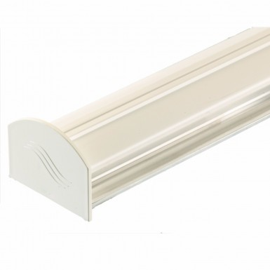 Corotherm - Polycarbonate Sheet Rafter Glazing Bar Kit - White (4m)