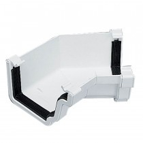 Plastic Guttering Universal Plus - Internal 135˚ Angle 128mm x 88mm - White
