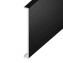 Double Fascia UPVC Capping Board - Plain - Black Ash (5m)