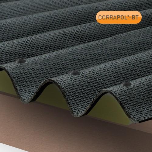 Corrapol Bt Corrugated Bitumen Roof Sheet Black 2000