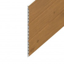 Hollow UPVC Soffit Board - 300mm x 9mm - Irish Oak (5m)