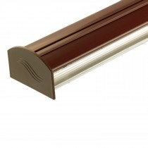 Corotherm - Polycarbonate Sheet Rafter Glazing Bar Kit - Brown (3m)