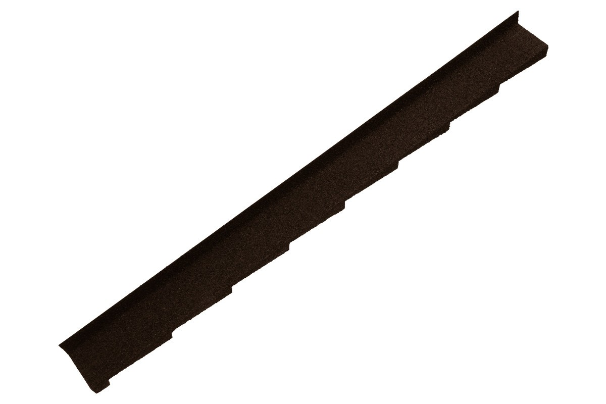 Britmet - Plaintile - Left Hand Side Wall Flashing - Bramble Brown (1250mm)