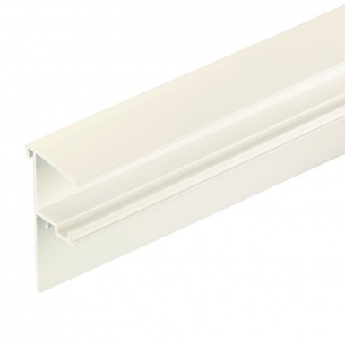 Corotherm - 25mm Polycarbonate Sheet Side Flashing -  White (6m)