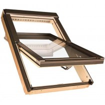 Fakro Roof Window - Centre Pivot in Pine - Obscure Double Glazed [FTP-V 02]
