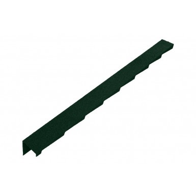 Britmet - Plaintile - Left Hand Barge - Tartan Green (1250mm)