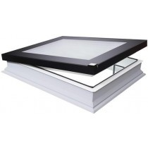 Fakro Flat Roof Window - Flat and Electric Opening  - Passive Quadruple Glazing [DEF-D U8]