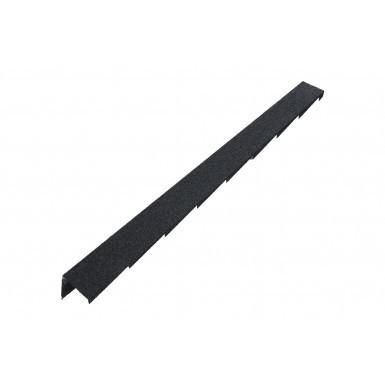 Britmet - Plaintile - Right Hand Barge - Titanium Grey (1250mm)