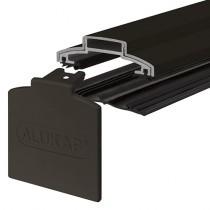 Alukap-XR - 60mm Aluminium Glazing Bar with End Cap - Brown