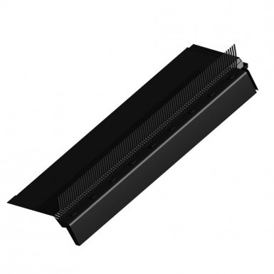 3-in-1 Over Fascia Vent with Comb - Black (0.9m)