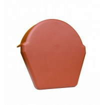 Lightweight Tiles - Smooth Budget Ridge End Cap - Red
