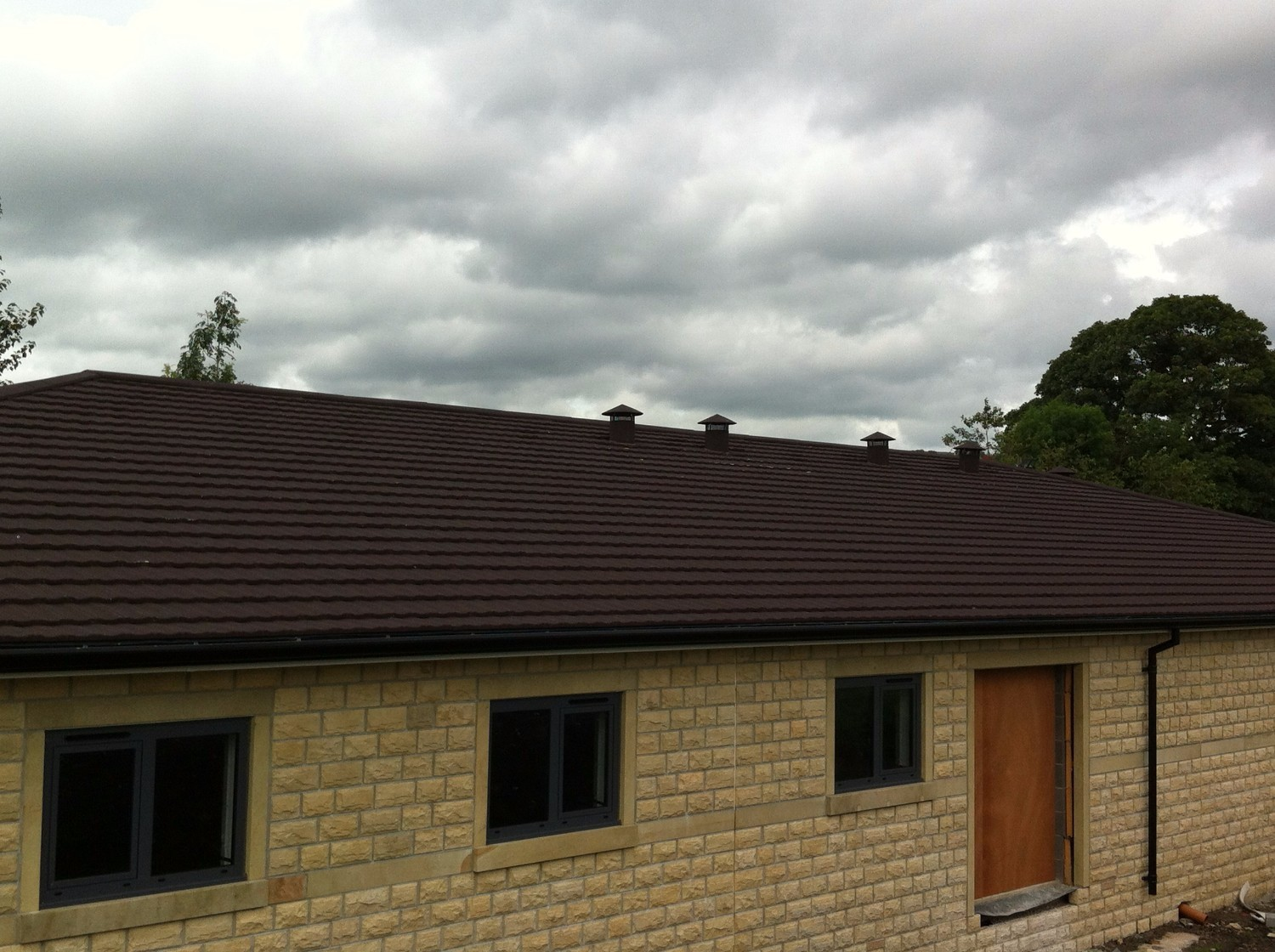 Lightweight Metal Roof Tiles used on new houses