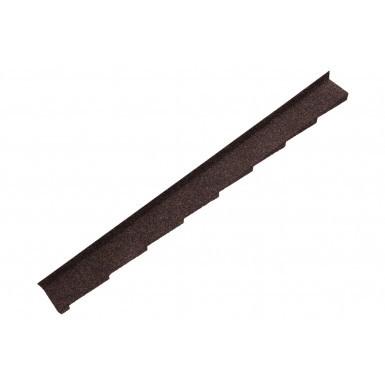 Britmet - Plaintile - Left Hand Side Wall Flashing - Rustic Brown (1250mm)