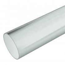 Plastic Guttering Half Round - Down Pipe - 65mm - White (2.5m)