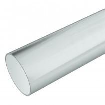 Plastic Guttering Half Round - Down Pipe - 65mm - White (5.5m)