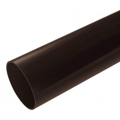 Plastic Guttering Half Round - Down Pipe - 65mm - Brown