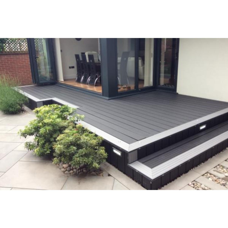 Hollow Woodgrain Composite Decking Boards - 150mm x 25mm