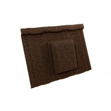 Britmet - Ultratile - Air Vent Tile - Bramble Brown