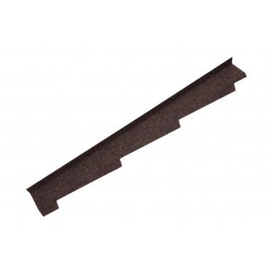 Britmet - Left Hand Side Wall Flashing - Rustic Brown (1250mm)
