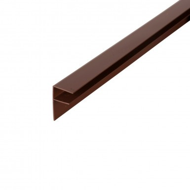 Corotherm - 16mm Polycarbonate Sheet Side Flashing -  Brown (6m)
