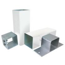 Alukap-SS - Complete Post & Bracket Kit - White (3000mm)