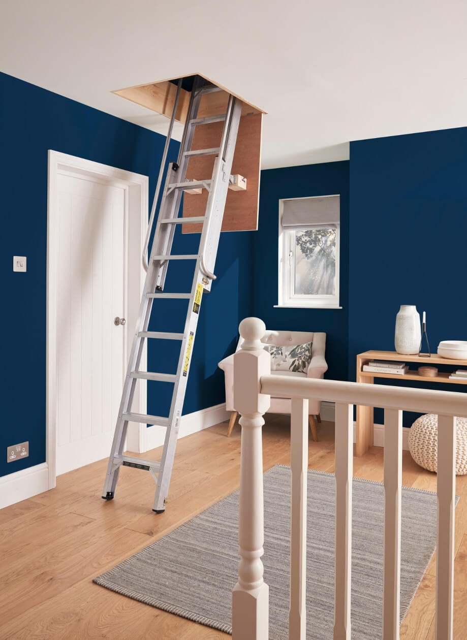 Youngman Deluxe Loft Ladder in Use