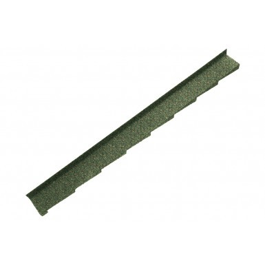 Britmet - Plaintile - Left Hand Side Wall Flashing - Moss Green (1250mm)