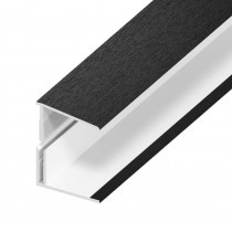 UPVC Shiplap Cladding - Edge Trim - 125mm - Black Ash (5m)