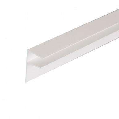 Corotherm - 16mm Polycarbonate Sheet Side Flashing -  White (4m)