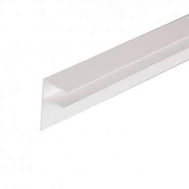 Corotherm - 16mm Polycarbonate Sheet Side Flashing -  White (6m)