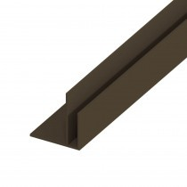 UPVC Shiplap Cladding - Starter Trim - 125mm - Dark Brown (5m)