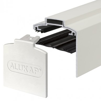 Alukap-XR - 60mm Aluminium Gable Bar with End Cap - White