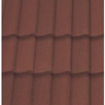 Sandtoft Double Pantile - Concrete Tile - Sandfaced Mottled Red