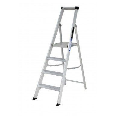 Youngman Builders Platform Step Ladder with Extended Support Rail
