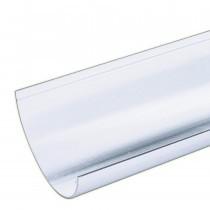 Plastic Guttering Half Round - 114mm x 51mm - White (4m)