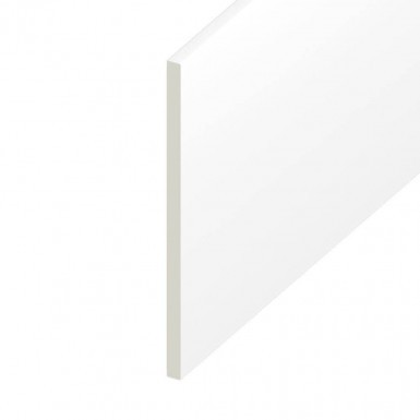 Soffit UPVC Board - Flat - White (5m)