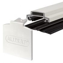 Alukap-XR - 45mm Aluminium Glazing Bar with End Cap - White