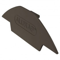 Alukap-XR - Ridge Gable End Plate - Brown