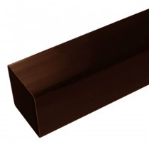 Plastic Guttering Squareline - Down Pipe - 65mm - Clay Brown (5.5m)