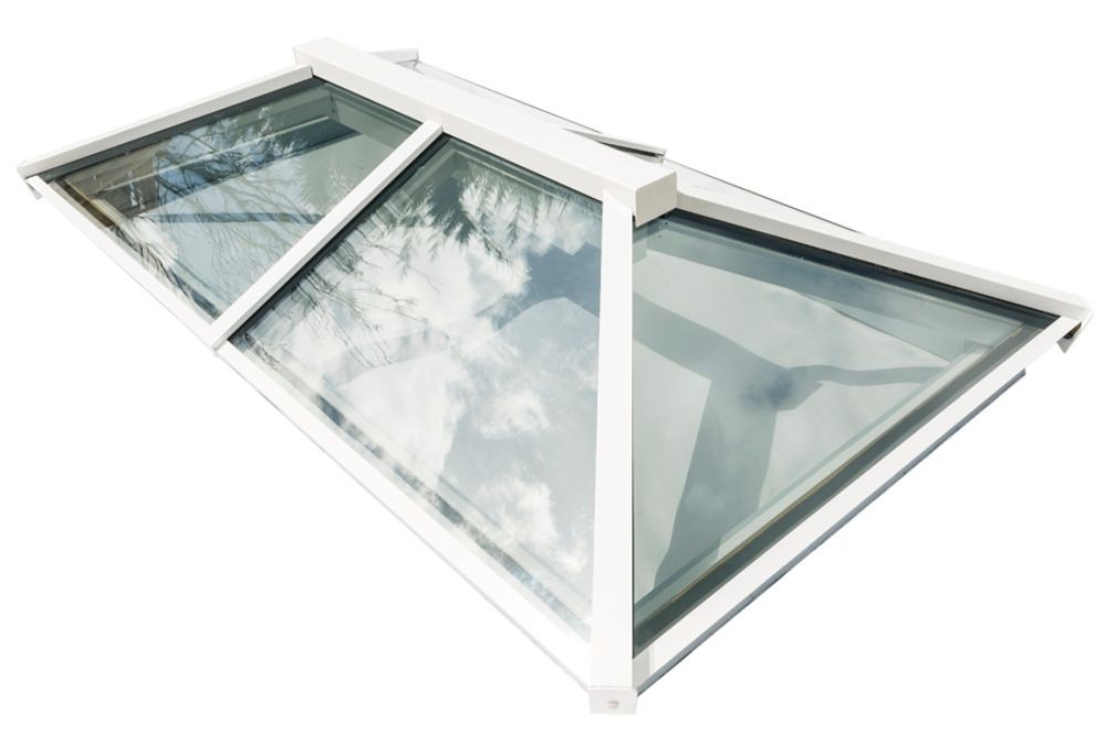 Em-Glaze Modular Roof Lantern with 150mm PVC Splayed Upstand - Rectangle