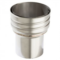 Flexiwall Flue Liner to Stove Pipe Adaptor - 316 Grade Stainless Steel - 100mm to 150mm