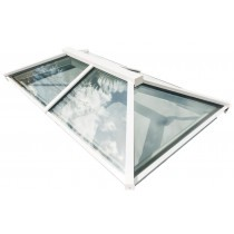 Em-Glaze modular ridgelight to suit builders upstand - 1100mm x 1100mm - Fixed - Square - White