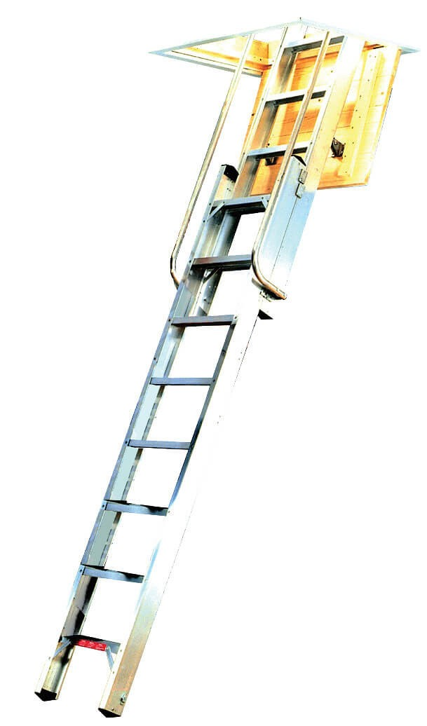 Youngman Deluxe 2 Section Loft Ladder - 14 Tread / 3.25m
